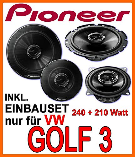 Lautsprecher - Lautsprecherset Pioneer - Front für VW Golf 3 - JUST SOUND best choice for caraudio