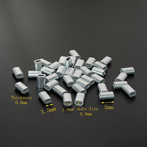Aluminum Single Oval Crimping Loop Sleeve for 1/32