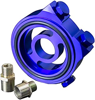 Upgr8 U8102-1003 Oil Filter Sandwich Plate Adapter Kit (Blue)