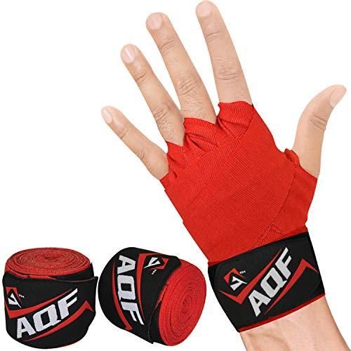 AQF Boxbandagen Für Kampfsport 4 Meter Elastische Boxhandschuhe Innerer Handschuhe Schutz Bandagen Boxen MMA & Cross Fitness Harren & Damen