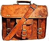 URBAN CRAFTS GALLARY Real Leather Small Vintage Handmade Craft 11 Inch Shoulder Crossbody Sling Bag Brown Satchel Bag Gifts Summer Sale