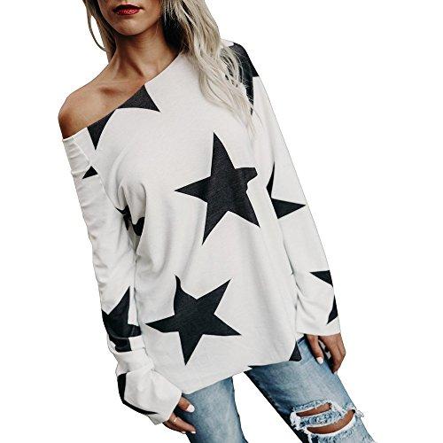 ESAILQ Bekleidung Damen körper bluse nicht zutreffend runde kragen langarm sweat-shirt weiß 1 s