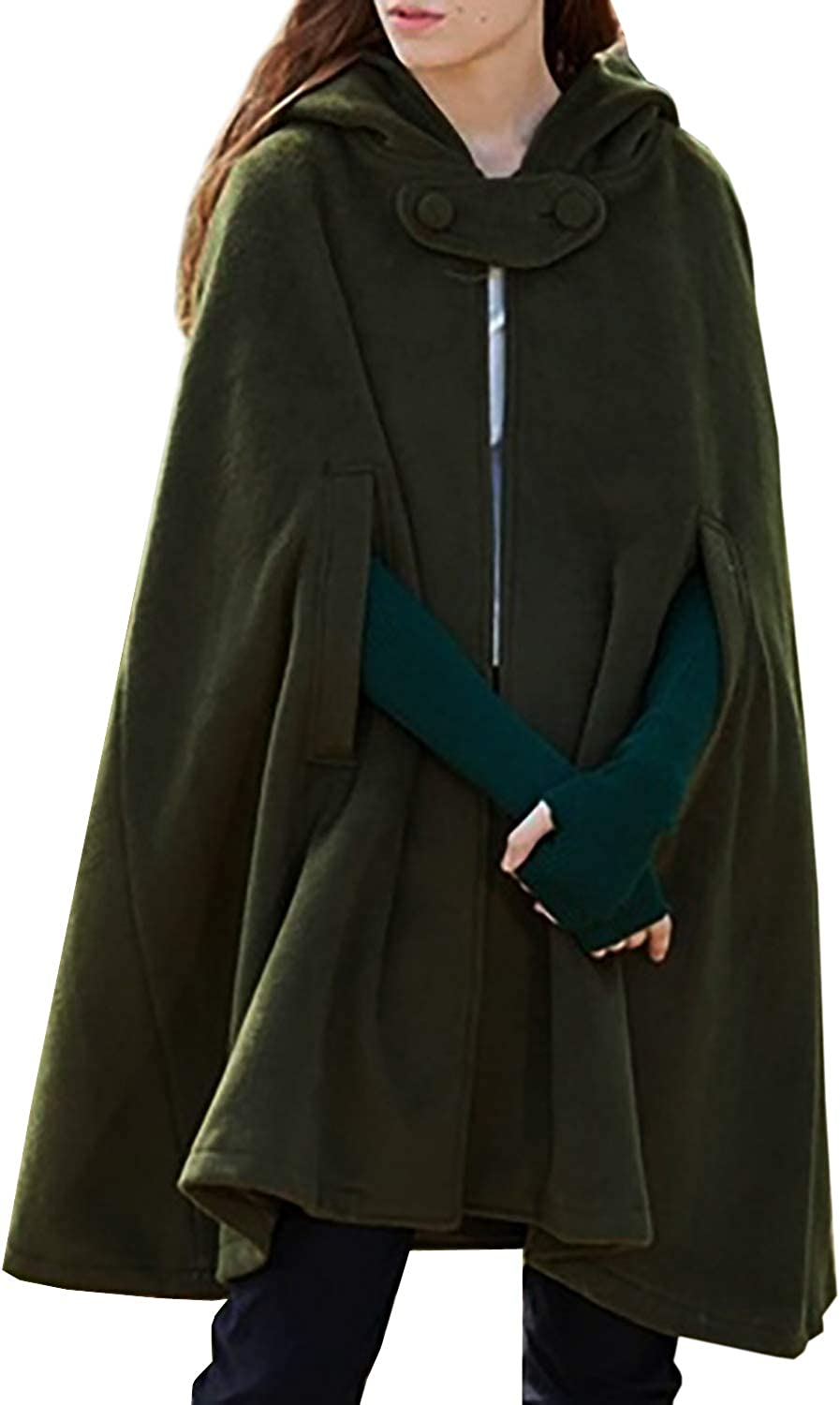 futurino Women Gothic Hooded Open Coat Cape Outwear Front Max 56% Import OFF Poncho
