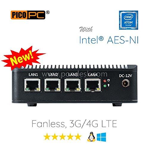 Perfect pfSense, Sophos, Untangle, Ubuntu, ClearOS, Freebsd, Monowall, Debian etc Intel AES-NI Atom® E3845 4 LAN with WiFi HD Fanless Firewall Appliance Router (4GB RAM, 32GB mSATA SSD)