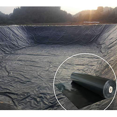 CGF- Transparente Revestimiento de Estanque Negro Pieles de Estanque de PE para estanques de Peces, Fuentes de Arroyos y Jardines de Agua (0,2 mm / 0,3 mm de Espesor)