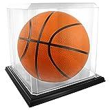 アクリルバスケットボール表示ケース–ブラックベース