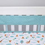 Disney Winnie the Pooh First Best Friend Secure-Me Cuna Liner, Aqua, Blanco,