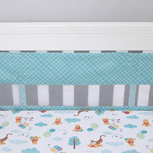 Disney Winnie l'ourson First Best Friend Secure-Me Doublure de berceau Bleu aqua Blanc