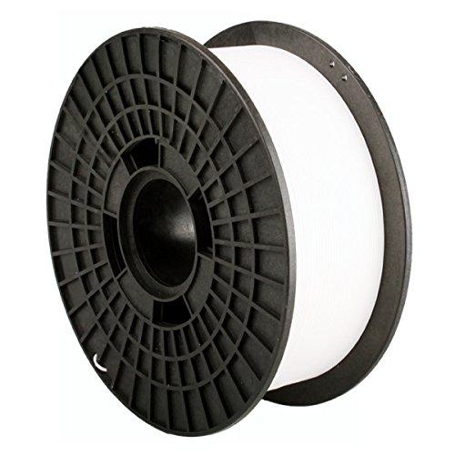 Print-rite-europe LCD043W Bobine de filament pour imprimante 3D PA (Nylon), diamètre 1,75 mm, 920 g, Blanc