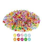 1020 Stück 6mm Kristall Glas Perlen Facettierte Glasperle Kügelchen Bunte Glasperlen Runde Kunstperlen Mehrfarbig Sortierte Perlen Gemischt Bastelperlen für Handwerk Armband Schmuck
