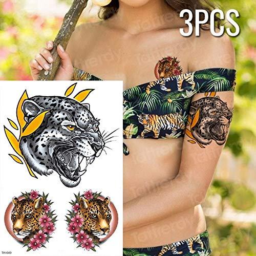 Handaxian 3 unids/Tigre Tatuaje Pantera Negra Tatuaje boceto ...