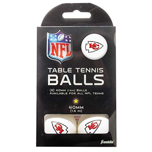 Franklin Sports Kansas City Chiefs Table Tennis Balls  NFL Team Table Tennis Balls  Official Team Logos and Colors  Fun NFL Game Room Accessories