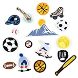 Patch Thermocollant, Écusson Brodé Patch, pour Vêtement T-Shirt Jeans, style rugby de football de baseball 16pcs