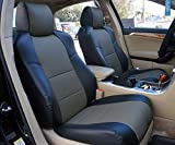 Iggee Acura TL (Not Type-S) 2004-2008 Black/Charcoal Artificial Leather Custom Made Original fit 2 Front seat Covers