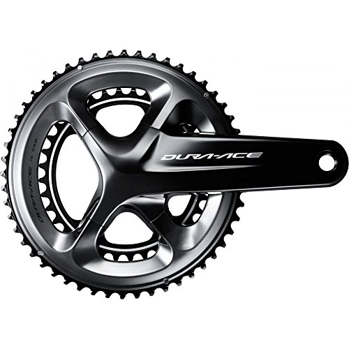 Shimano Dura Ace R9100, Guarnitura, Nero, 34/50 Denti