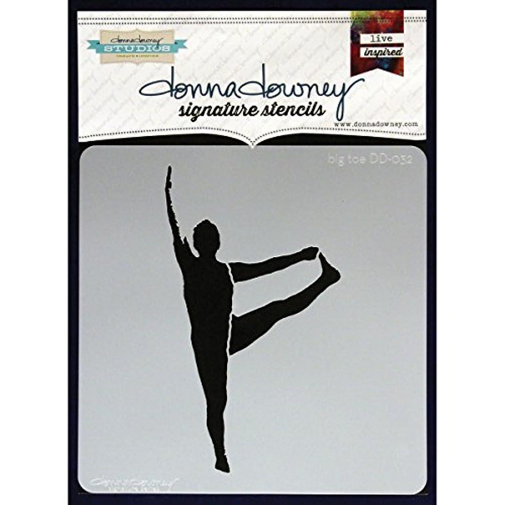 Donna Downey Stencils, Big Toe, 8.5 by 8.5-Inch