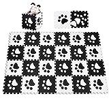 COSTWAY Puzzlematte 24 Stück, Spielmatte für Baby und Kinder, Kinderteppich je 30x30cm, Spielteppich Eva, Krabbelmatte schadstofffrei