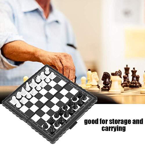 TOOGOO 5X5 Zoll Schach Tragbare Kunststoff Falt Brett mit Magnetischen Schach Spiel Schach Spiel Puzzle Party Familien Event
