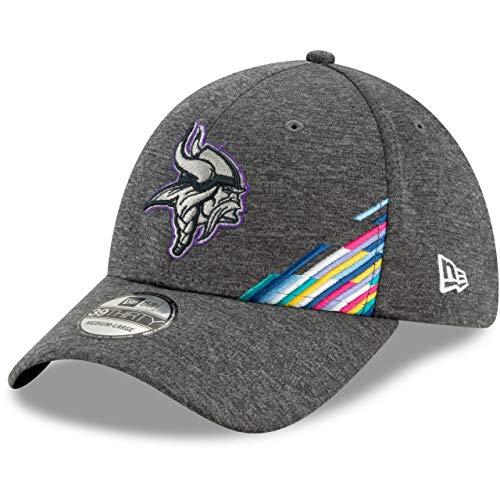 New Era Minnesota Vikings 39thirty Stretch Cap NFL 2019 On Field Crucial Catch Graphite - S-M