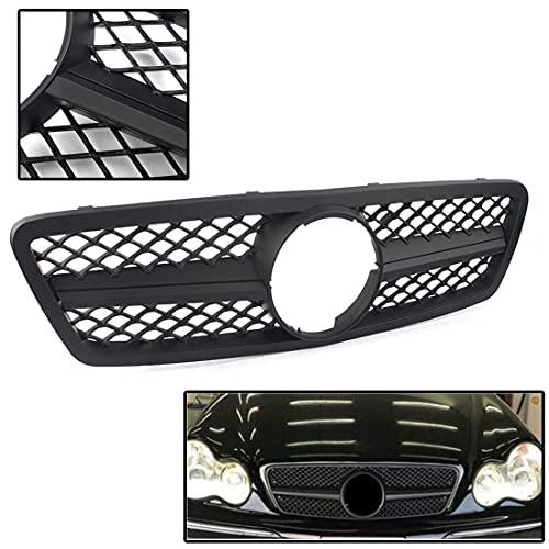 LADOG Rejilla de radiador frontal para Mercedes Benz Clase C W203 2000-2006, accesorio de rejilla de ventilación para el coche, accesorio de estilo de rejilla