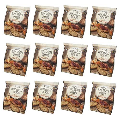 Lot 12x Petits pains grillés suédois - paquet 225g