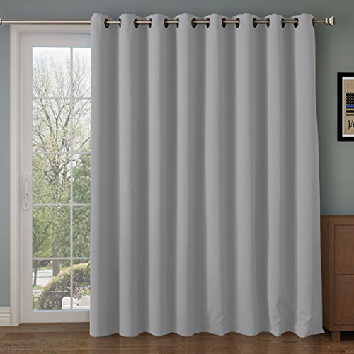 RHF Function Curtain-Wide Thermal Blackout Patio Door Curtain Panel, Sliding...