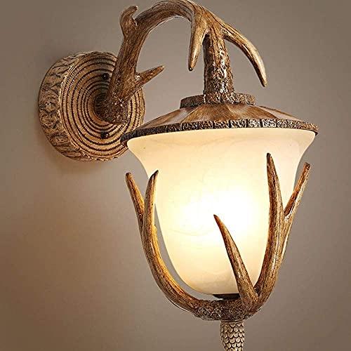 Ksovv Retro Resina asta de Pared luz escoce Antiguo mármol Vidrio Sombra Pared Linterna Americano país Estilo de Pared lámpara de Pared Restaurante Bar cafetería decoración iluminación