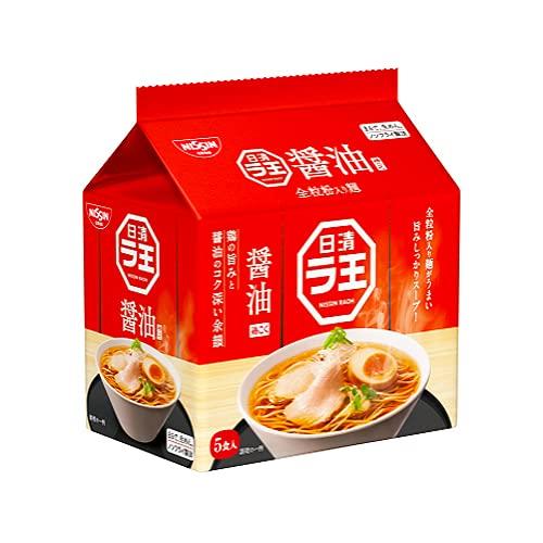 日清ラ王 醤油 5食パック(袋)505g ×12個(2ケース) /全粒粉入り麺 /ラーメンは、もっと進化する /買い置き
