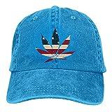N \ A Marihuana Leaf Denim Gorra de béisbol Sombrero de Sol Personalizado Accesorios de Béisbol Mujeres Hombres Al Aire Libre Ajustable Casqueta Papá Sombrero Azul