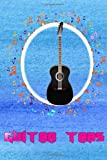 Guitar Tab Book: Easy Acoustic Guitar Tabs Rock 100 Page Size 6x9 Inch Glossy Cover Design Cream Paper Sheet ~ Tabs - Notes # Music Very Fast Prints.