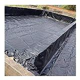 YJFENG Teichfolien, 0,5 Mm HDPE Patchbar Plane, Undurchlässiger Film Für Dach Auslaufsicher, Schwerlast Geotextil Für Mülldeponie Aquakultur (Color : Black, Size : 8x10m)