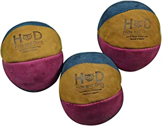 Hide & Drink, Leather Juggling Balls (3 Pack) Equipment with Professional Style, Great Feel, Handmade Includes 101 Year Wa...