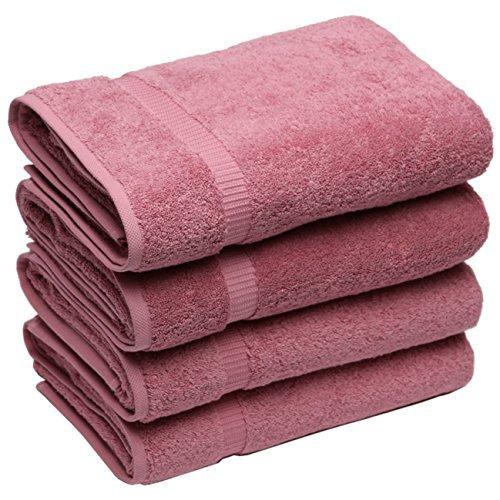 SALBAKOS Luxury Bath Towels, Large Rose Bathroom Hotel Towel Set, Softest 700 GSM Genuine Turkish Cotton Eco-Friendly Bath Towel Set, 27x54 Inches, Wholesale Box of 24 Towels