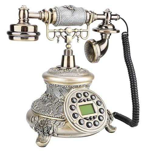 Teléfono Fijo Antiguo, Pantalla De Fecha De Teléfono De Marcación Giratoria para Accesorios De Tripulación para Decoración De Posada para El Hogar