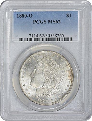 1880-O Morgan Silver Dollar, MS62, PCGS