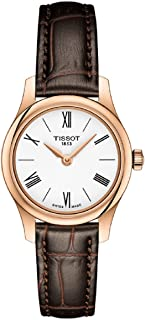 Tissot Tradition Thin White Dial Ladies Leather Watch T0630093601800
