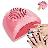 Ventilatore per unghie, Ventilatore per unghie Manicure portatile Elettrico per mani a mano con smalto per unghie Macchina per asciugare smalto per unghie e acrilico - Batteria funzionan (rosa)