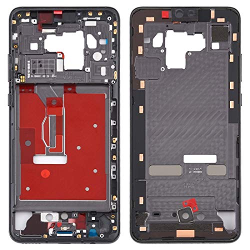 un known Middle Frame Bezel Plate for Huawei Mate 30 Accessory Replace New Parts (Color : Black)