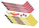 Champion Sports Rhino Stick Elementary Hockey Set (Red/Yellow, 36-Inch)