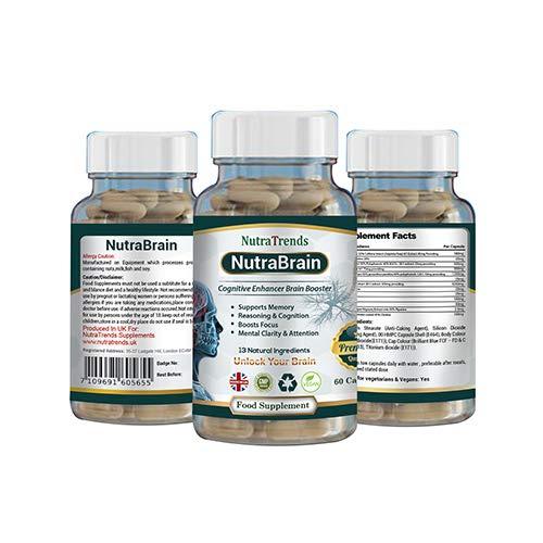 Nutrabrain is a Nootropics Cognitive Enhancers Mental wellnes 60 Vegan Capsule