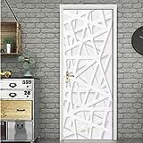 DSAOMO Stickers Porte Poster Créatif 3D Papier Peint Porte Trompe l'oeil pour Salon Chambre Décoration De La Maison Stickers...