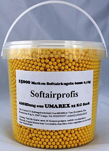 15000 Umarex Softairkugeln BB´s 0,12 Gramm , 6mm , Gelb , Gradfrei