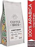 Coffee Bros., Light Roast Coffee Beans, Whole Bean, 100% Arabica Coffee Beans, Breakfast Blend, Crisp & Bright, 12oz