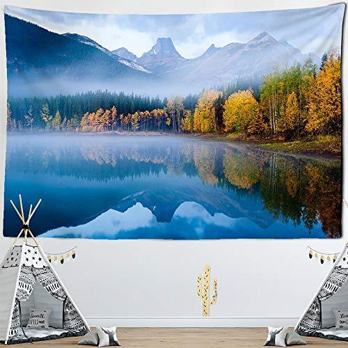 Wssmsy Tapiz, paño de Pared, tapicería, Colcha, Manta Paisaje de montaña Adornos de Pared,Decoraciones -S/95x73cm