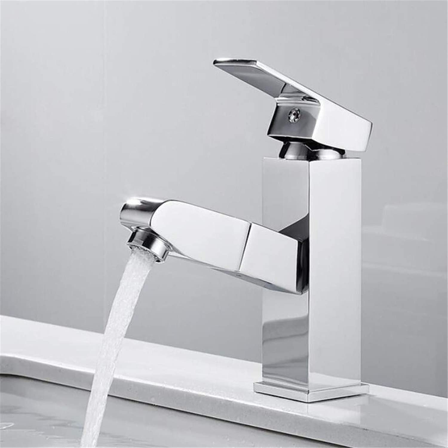 Faucet Washbasin Mixer Sink Faucet Chrome Black Single Handle Hot and Cold Water Crane Vessel Sink Mixer Tap