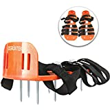 GRÜNTEK Lawn Aerator Shoes | Garden Grass Aerator Spiked Sandals | 4 Secure Adjustable Straps | Universal Size for All Shoes or Boots