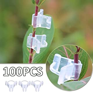 100pcs Plant Grafting Clips,Mini Transparent Plastic Grafting Clips,Tomato Vines Clips,Plant Supports Connects Plants Seed...