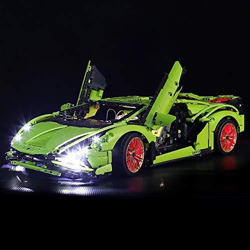 LED Light Kit for Lego Set 42115 Technic Lamborghini Sián FKP 37 Car Building Blocks Model,DIY Install Light Toy Gift for Adults Boys Girls (Lights Only,No Bricks)