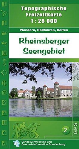 Topographische Karten Brandenburg, Rheinsberger Seengebiet (Topographische Freizeitkarte 1:25000, Land Brandenburg / Für Wanderungen, Rad- und Bootsfahrten)