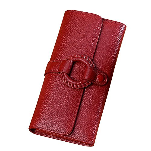 Haixin Billetera de Dama Cuero | Monedero de señora Cuero DIY Cartera-Glamour